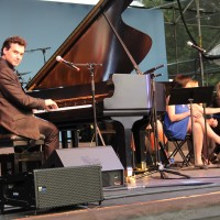 Michael Kaeshammer plays a Mason and Hamlin provided by Pacey's Pianos during the PNE's Mosaic Music Series